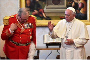 Pope Francis takes over Knights of Malta after condom dispute